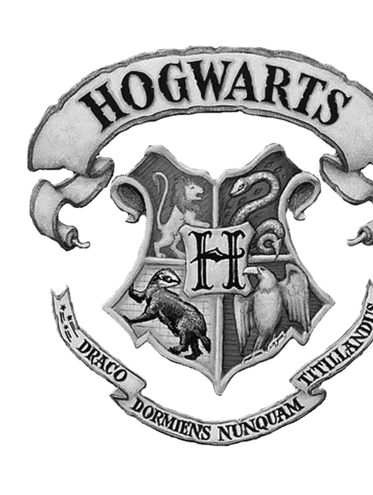 PreviewHogwarts Crest Black And White