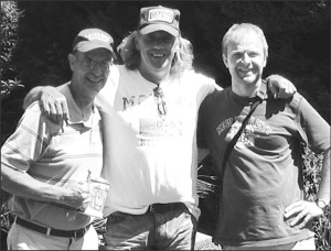 Photo provided by Max McGeeMax McGee (left) enjoys a day out with a cowriter, Rolf Schnyder, and the father of the 4th place German Idol song competition winner who was slated to record one of McGee's songs.