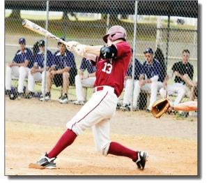 Photo courtesy of Sports InformationScott Zuback at bat.