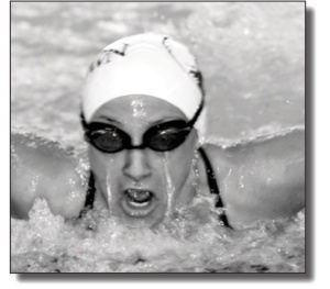 Photo courtesy of Sports InformationBrittany Rehrig swimming in 100-breaststroke