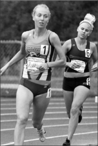 Photo courtesy of Sports Information. Corina Robbins ran a personal best for Lock Haven