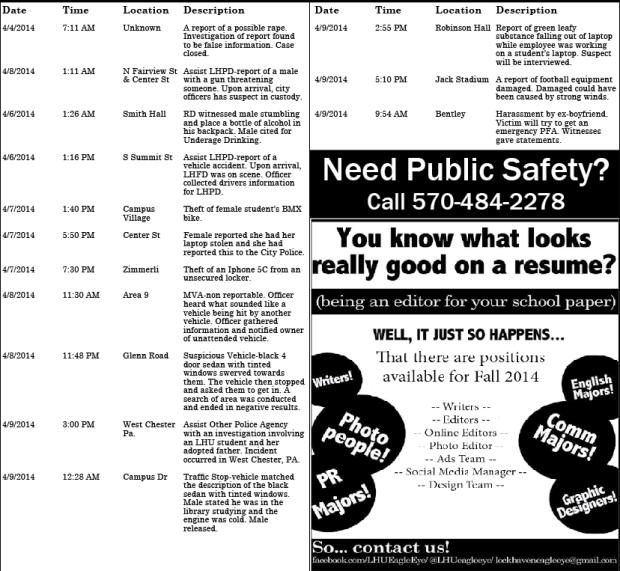 police report april 17